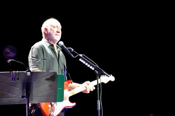 The Who performed in Nashville for the first time in their storied career on December 2, 2012, when they brought their Quadrophenia and More tour to the Bridgestone Arena. Pictured: Pete Townshend