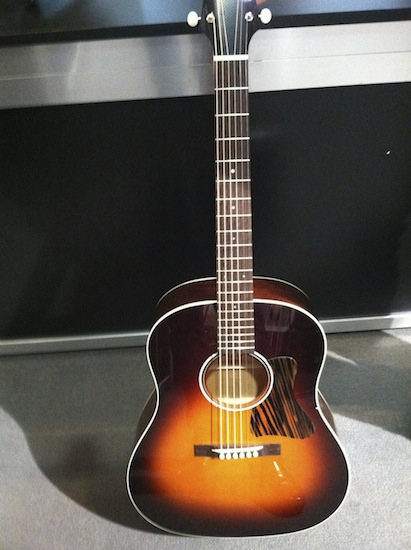 """Collings Guitars newest model, the CJ35 which takes its inspiration from the 'golden' pre-war era of American flattop guitar making. The CJ35 incorporates a non-scalloped bracing configuration featuring three tone bars and a short 24 7/8"""" scale length."""
