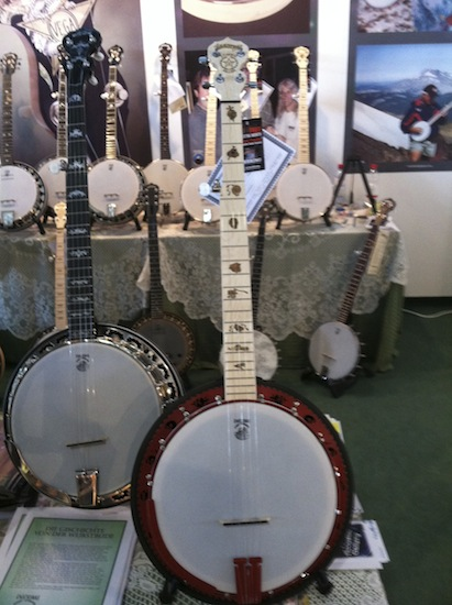 The Goodtime Zombie Killer from Deering Banjos. Inspired by the movie Zombieland (CHECK)', where zombies received a death by banjo beating, this modern looking 5-string instrument will definitely deliver you from the evils of bad music and tone.
