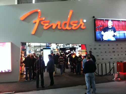 Fender Musical Instruments had a large presence on the floor, with products from Takamine, Guild, Ovation and their guitar and amp divisions.