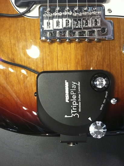 The long-awaited Fishman TriplePlay wireless guitar controller is finally shipping.