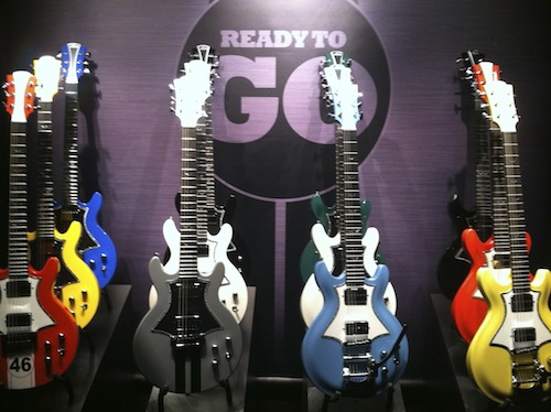 The Lag Guitars new Roxanne line, complete with a full-on racing theme.