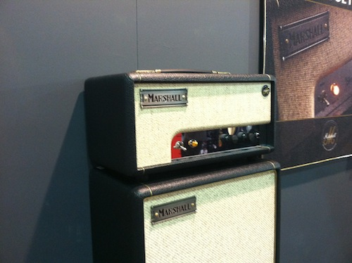 Marshall debuted their new Offset line of amplifiers. This 1 watt head and cab combination takes inspiration from one of the original Marshall amplifiers – the JTM45 – and employs simple loudness and tone controls that embody everything from Vintage Marshall cleans to inimitable British Crunch.