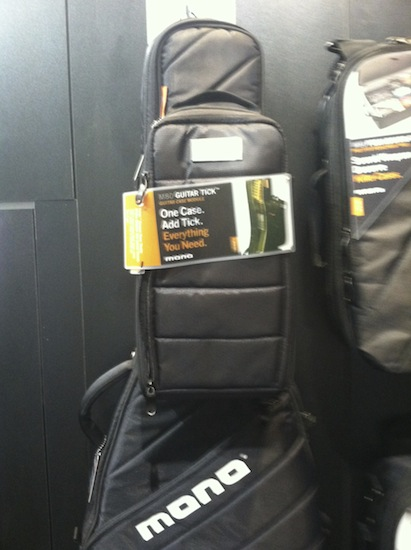 Mono Cases acoustic guitar travel bag with  the handy optional accessories bag.