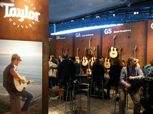 Taylor Guitars booth.