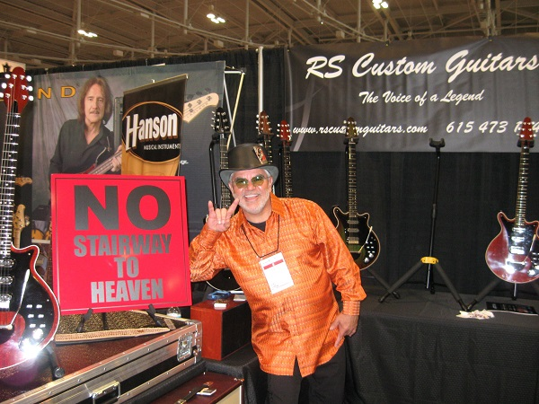 Leo Lopez of RS Custom Guitars lets it be known what he will let people play on his guitars. We're sure he's kidding.