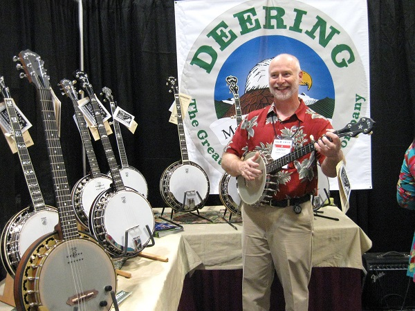 Barry Hunn of Deering Banjos shows his chops on one of the company's models.