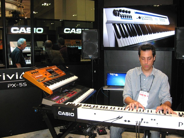 Keyboardist Tom Brislin plays Casio's new Privia PX5-S, which boasts 256-note polyphony and a $999 street price.