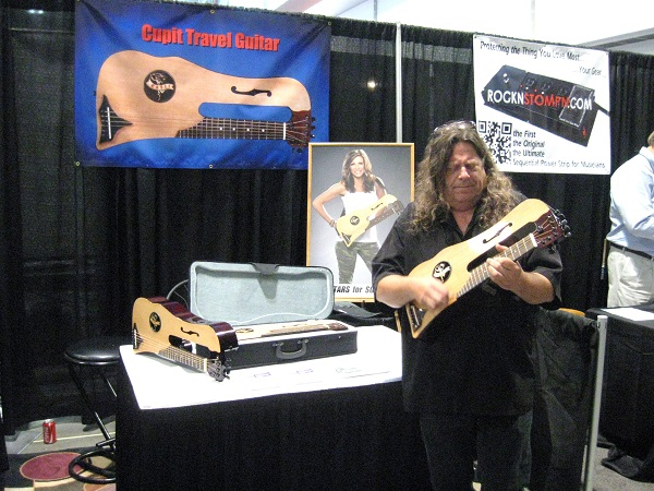 Shayne Owens demonstrates the compact Cupit Travel Guitar.