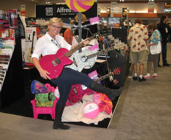 Renee Cunning struts her stuff with Alfred Music's Daisy Rock Girl Guitar.