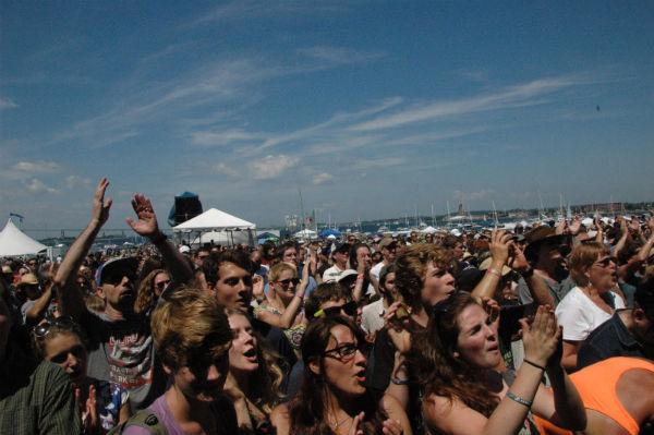 The Newport crowd