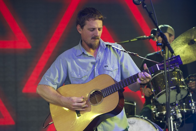 Sturgill Simpson performing Saturday at Bonnaroo's That Tent. Photo by Mike Stewart