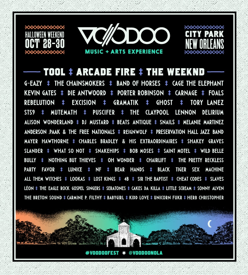 2016 Voodoo Fest Lineup Announced « American Songwriter