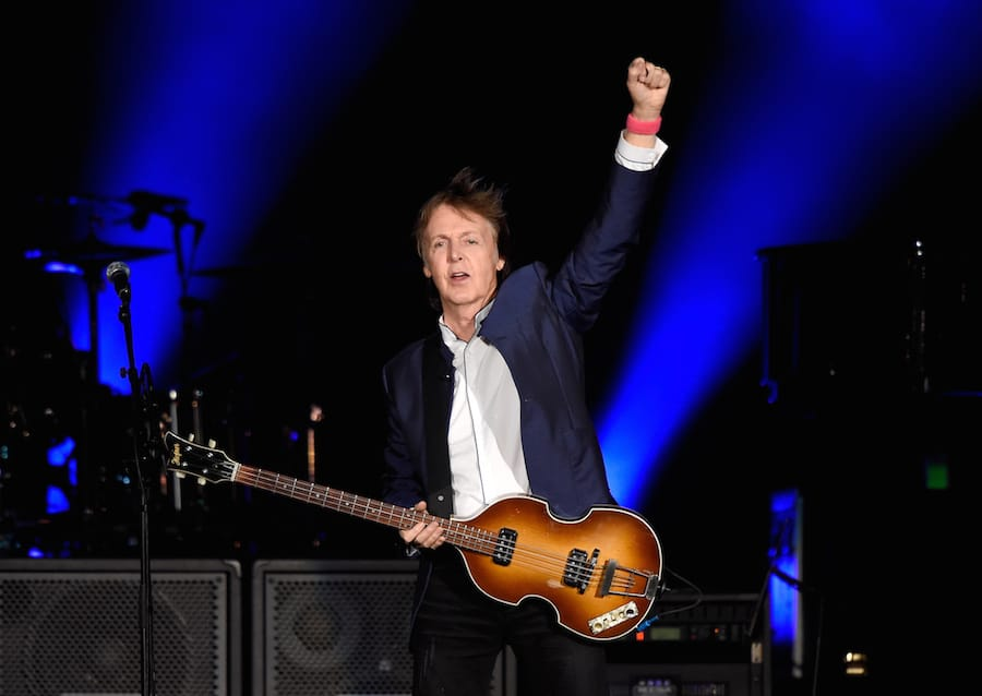INDIO, CA - OCTOBER 15: Musician Paul McCartney performs during Desert Trip at The Empire Polo Club on October 15, 2016 in Indio, California. (Photo by Kevin Mazur/Getty Images for Desert Trip)