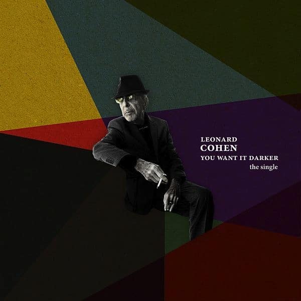 Leonard Cohen You Want It Darker Single Art