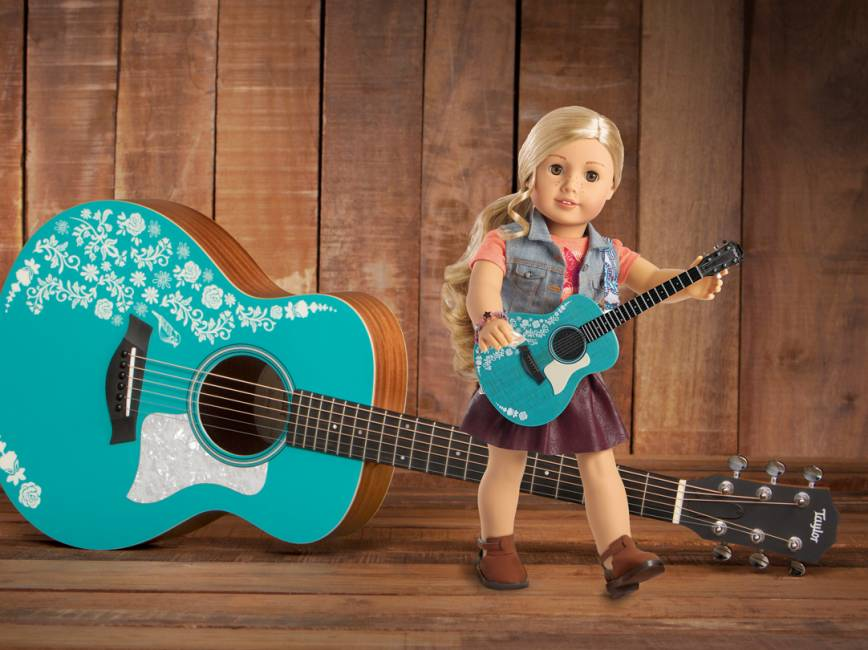 taylor guitars and american girl announce special edition guitar for singer songwriter. Black Bedroom Furniture Sets. Home Design Ideas