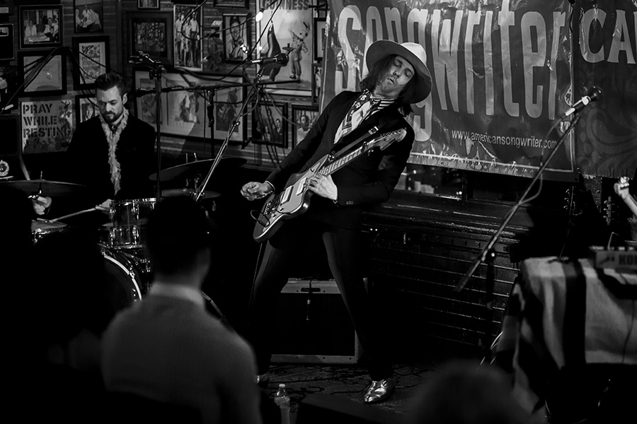Aaron Lee Tasjan rocking at Callaghan's in Mobile, Ala., earlier this year. Photo by Justin St. Clair