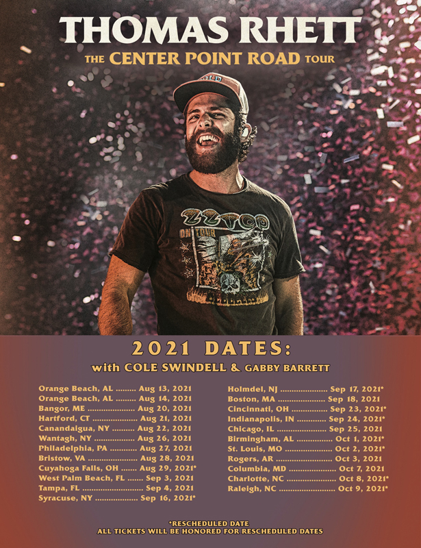 Thomas Rhett Announces 2021 The Center Point Road Tour American Songwriter